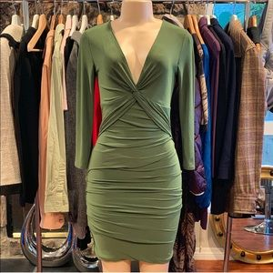 •BCBGMAXAZRIA• Green Dress